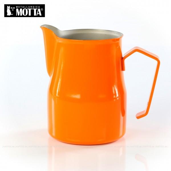 Milchkännchen aus Edelstahl (rostfrei), Füllmenge 750 ml, Farbe orange (außen), Gesamtinhalt 1 Stück pro VPE, EAN-Code: 8007986026750