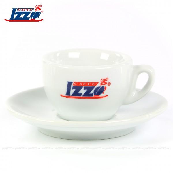 Farbe weiß mit Izzo-Logo, 6 Tassen pro VPE, EAN-Code: 0000000001711