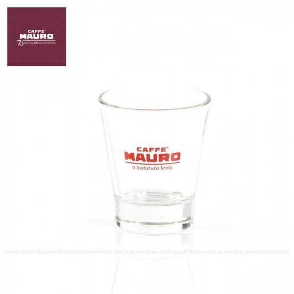 Glas bedruckt mit CAFFÈ MAURO-Logo, 6 Gläser pro VPE, EAN-Code: 8002530941107