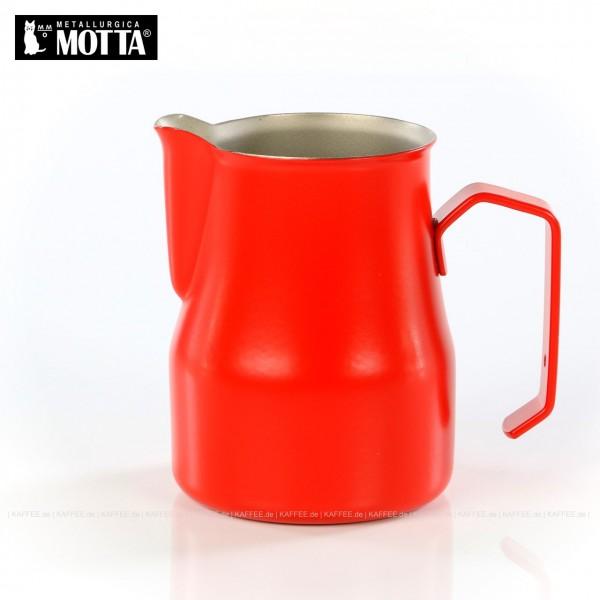 Milchkännchen aus Edelstahl (rostfrei), Füllmenge 350 ml, Farbe rot (außen), Gesamtinhalt 1 Stück pro VPE, EAN-Code: 8007986027351
