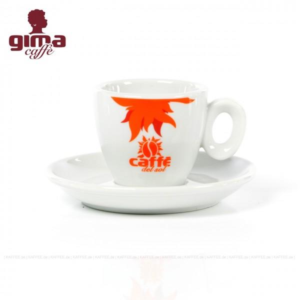 Farbe weiß mit Café del Sol-Logo, 6 Tassen pro VPE, EAN-Code: 0000000002123