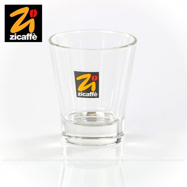 Glas bedruckt mit Zicaffè-Logo, 6 Gläser pro VPE, EAN-Code: 0000000001075