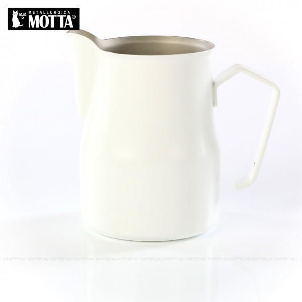 Milchkännchen aus Edelstahl (rostfrei), Füllmenge 750 ml, Farbe weiß (außen), Gesamtinhalt 1 Stück pro VPE, EAN-Code: 8007986024756