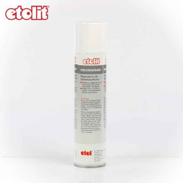 Edelstahlfinisch entfernt Putz- und Wischstreifen, 15 Dosen je  400 g pro VPE, Gesamtinhalt 6 kg pro VPE, EAN-Code: 0000000002201