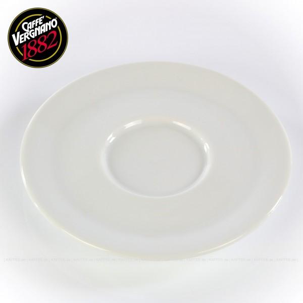 Farbe weiß, passend zur Caffè Vergnano Cappuccinotasse (Artikel 1615), 6 Untertassen pro VPE, EAN-Code: 0000000001616