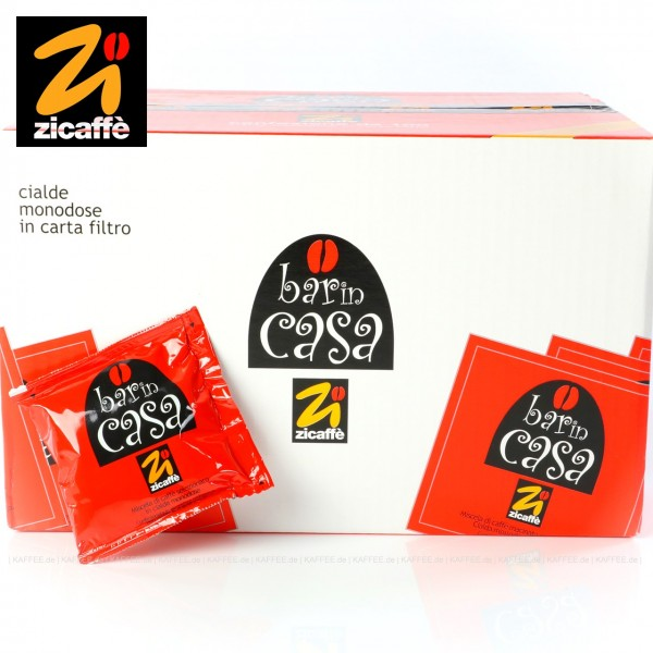 100 Pads je 7 g pro VPE, gemahlen, ESE-Standard 44 mm, Gesamtinhalt 0,7 kg pro VPE, EAN-Code: 18002076100072