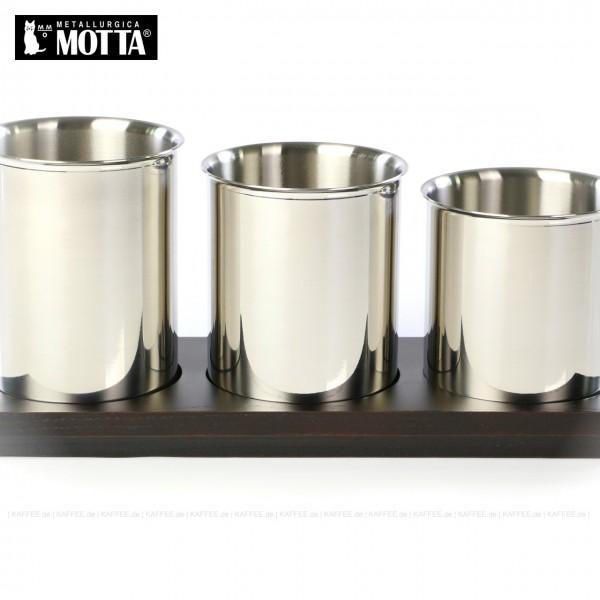 Kaffeelöffelbecher Set aus Edelstahl in drei unterschiedliche Größen (3-teilig), Gesamtinhalt 1 Stück pro VPE, EAN-Code: 8007986050700