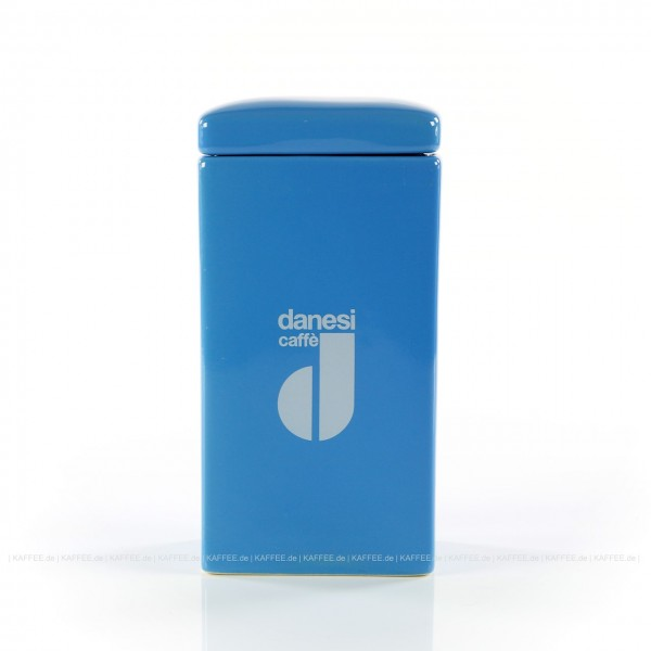 DANESI  Pot, Aufbewahrungsgefäß, farbig (hellblau) mit DANESI-Logo, zweiteilig - Gefäß mit Deckel, EAN-Code: 8000135818381