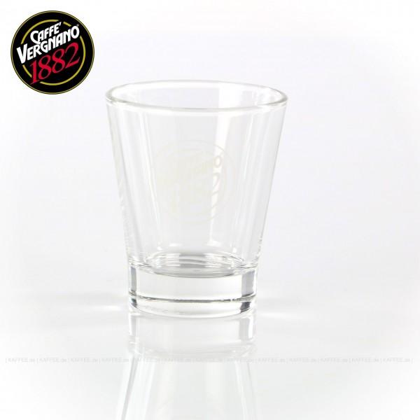 Glas mit Caffè Vergnano-Logo, 6 Gläser pro VPE, EAN-Code: 800180099285