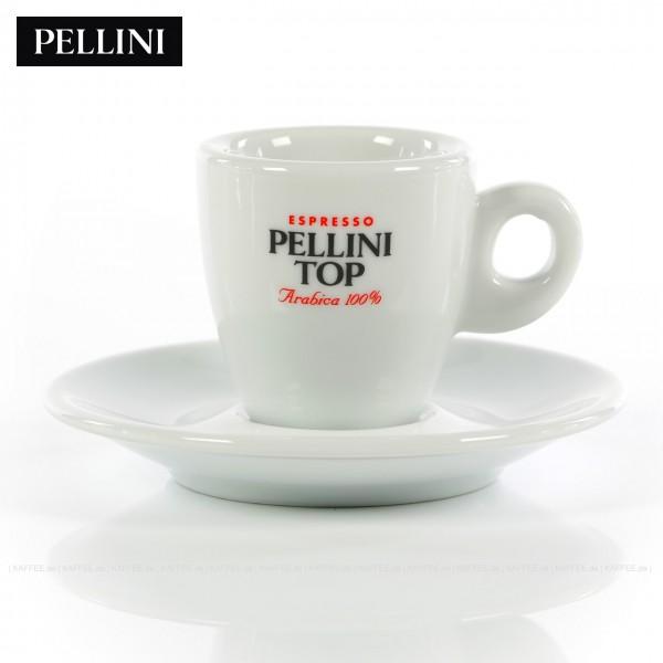 Farbe weiß mit Pellini-Top-Logo, 6 Tassen pro VPE, EAN-Code: 0000000001141