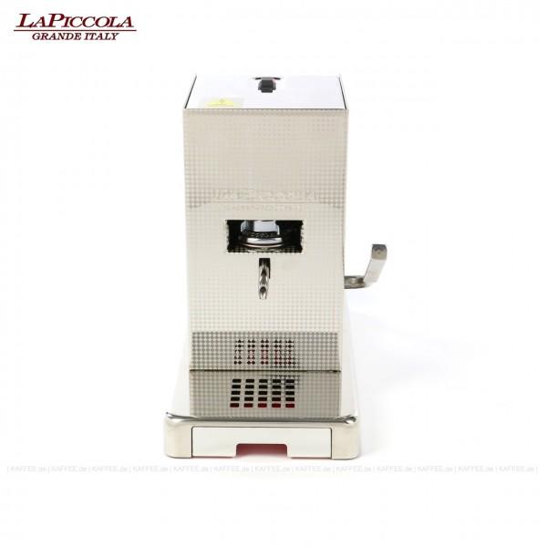 Espressomaschine für ESE-Pads (44 mm Standard-Pads), Edelstahlgehäuse mit veredelter Oberflächenstruktur, EAN-Code: 8021103700347