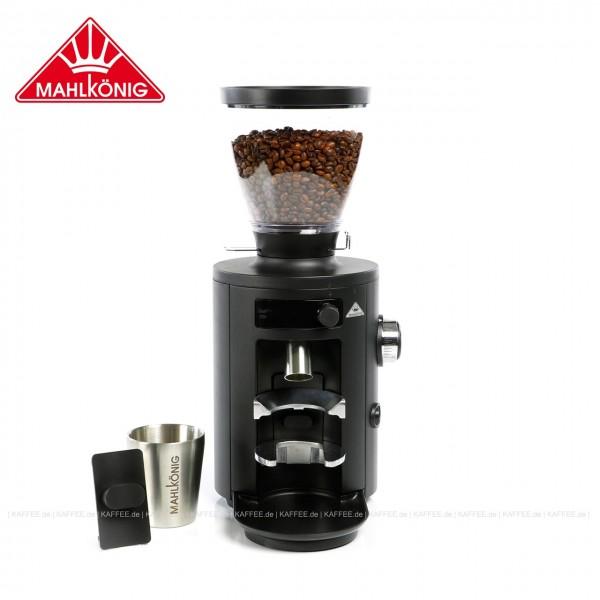Kaffeemühle,  Farbe Schwarz matt, 42,5 cm hoch  mit einem Trichterinhalt von ca. 500 g. Die Mahlkönig X54 Allround-Haushaltsmühle ist die beste Wahl für jeden Heim-Barista., EAN-Code: 6973340020004