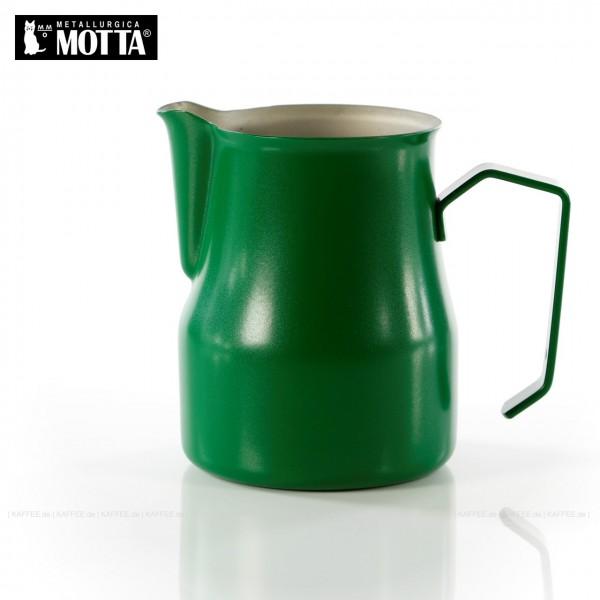Milchkännchen aus Edelstahl (rostfrei), Füllmenge 500 ml, Farbe grün (außen), Gesamtinhalt 1 Stück pro VPE, EAN-Code: 8007986028501