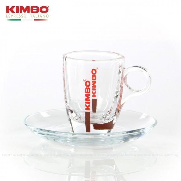Glastasse mit KIMBO-Logo, 6 Tassen pro VPE, EAN-Code: 0000000001543