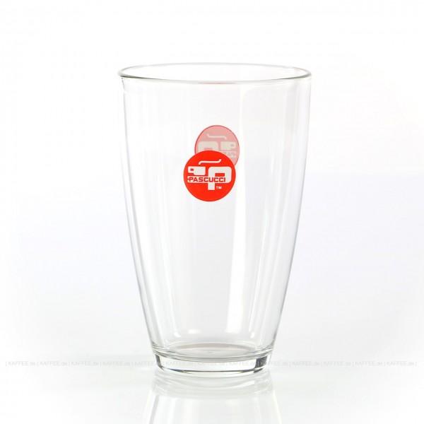 Glas mit rotem PASCUCCI-Logo, 6 Gläser pro VPE, EAN-Code: 2000000000947