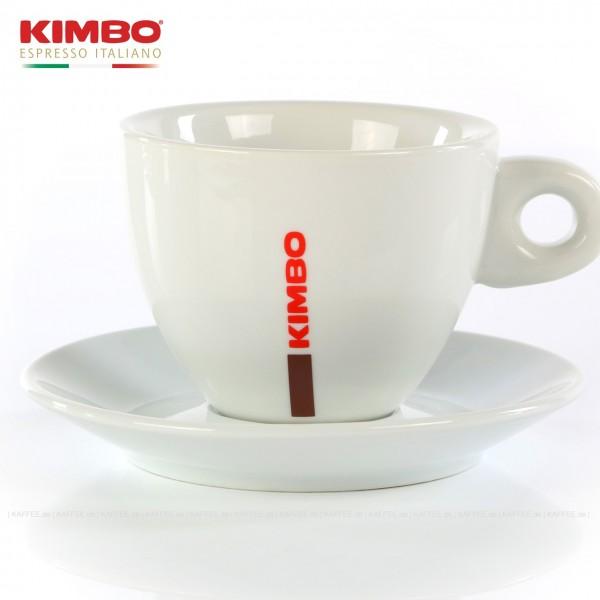 Farbe weiß mit KIMBO-Logo, 6 Tassen pro VPE, EAN-Code: 0000000001546