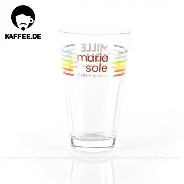 Glas bedruckt mit MariaSole- & MilleSoli-Logo, 6 Gläser pro VPE, EAN-Code: 4260011866002