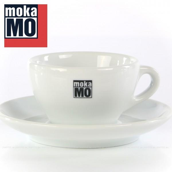 Farbe weiß mit mokaMO-Logo, 6 Tassen inkl. Untertasse pro VPE, EAN-Code: 0000000001787