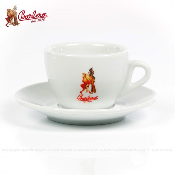 Farbe weiß mit Barbera-Logo, 6 Tassen pro VPE, EAN-Code: 8007597001184