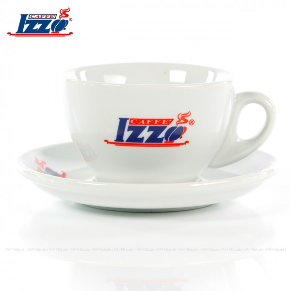 Farbe weiß mit Izzo-Logo, 4 Tassen pro VPE, EAN-Code: 8019925000929