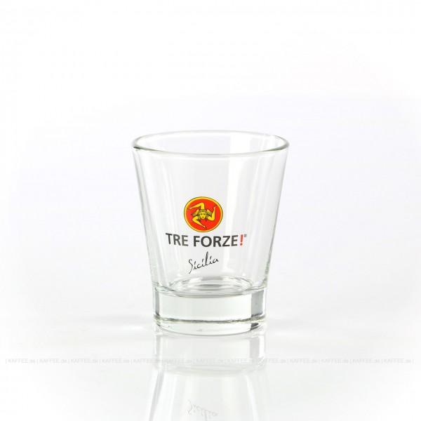 Glas mit Tre Forze!-Logo, 6 Gläser pro VPE, EAN-Code: 4260011861106