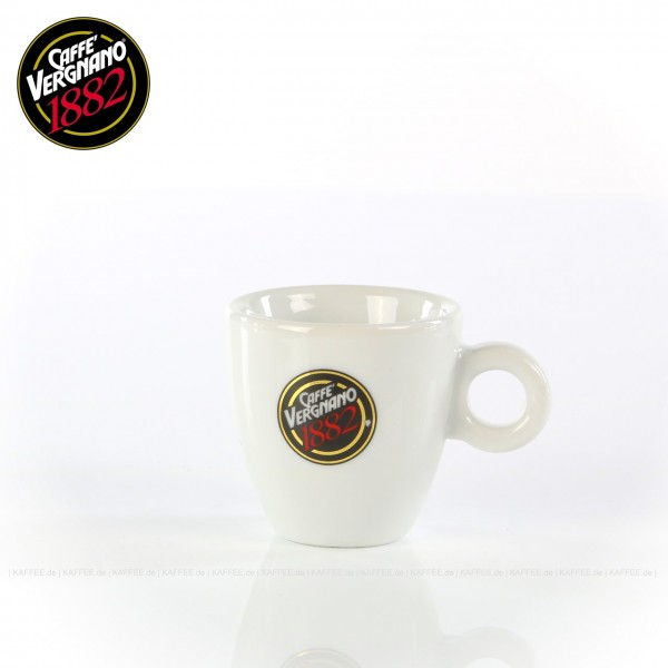 Farbe weiß mit Caffè Vergnano-Logo, ohne Untertasse, 6 Tassen pro VPE, EAN-Code: 0000000001613