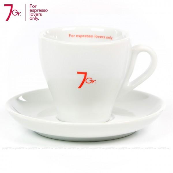 Farbe weiß mit rotem 7 Gr.-Logo, 6 Tassen pro VPE, EAN-Code: 8034013280144