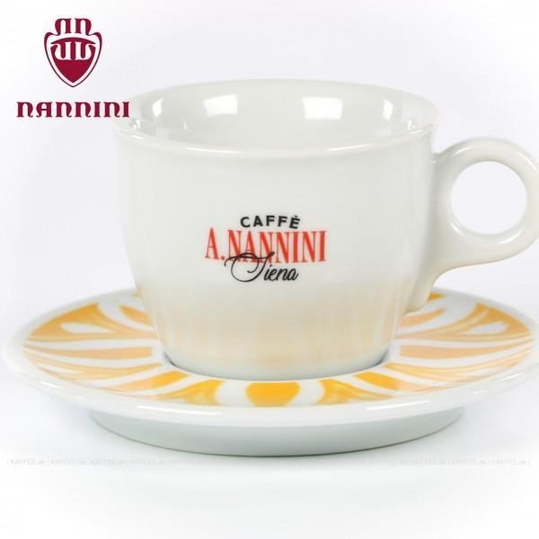 Farbe weiß mit Nannini-Logo, 6 Tassen pro VPE, EAN-Code: 8019247000317