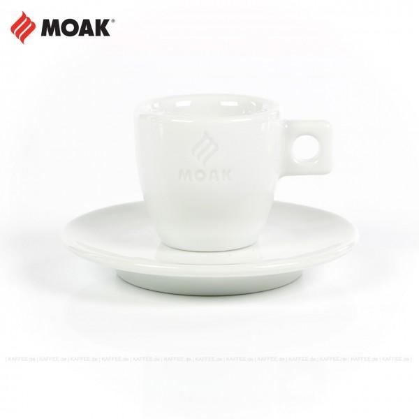 Farbe weiß mit Moak-Logo, 6 Tassen pro VPE, EAN-Code: 8006131000102