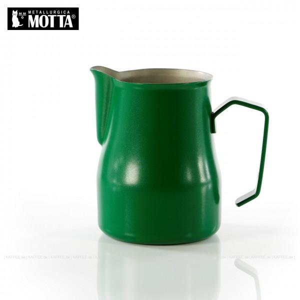 Milchkännchen aus Edelstahl (rostfrei), Füllmenge 350 ml, Farbe grün (außen), Gesamtinhalt 1 Stück pro VPE, EAN-Code: 8007986028358