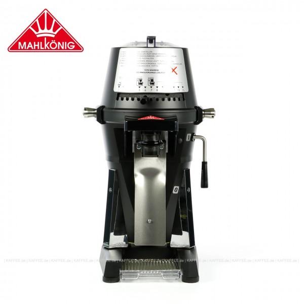"""Hochleistungskaffeemühle,  380-415 Volt (Dreiphasen- bzw. """"Starkstrom""""), 50-60 Hz, Mahlscheiben für Kaffee bzw. Espresso, Farbe schwarz matt (RAL 9005), EAN-Code: 0000000002157 ## Weitergehende Informationen und technische Details finden Sie auch auf der"""