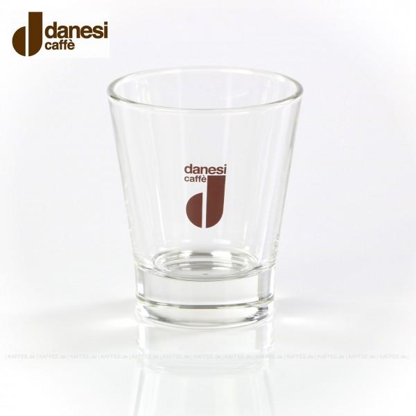 Glas mit Danesi-Logo, 12 Gläser pro VPE, EAN-Code: 8000135400012