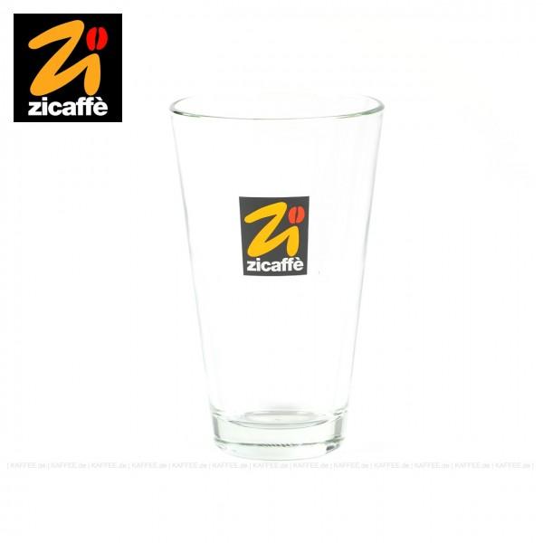 Glas bedruckt mit Zicaffè-Logo, 6 Gläser pro VPE, EAN-Code: 0000000001076
