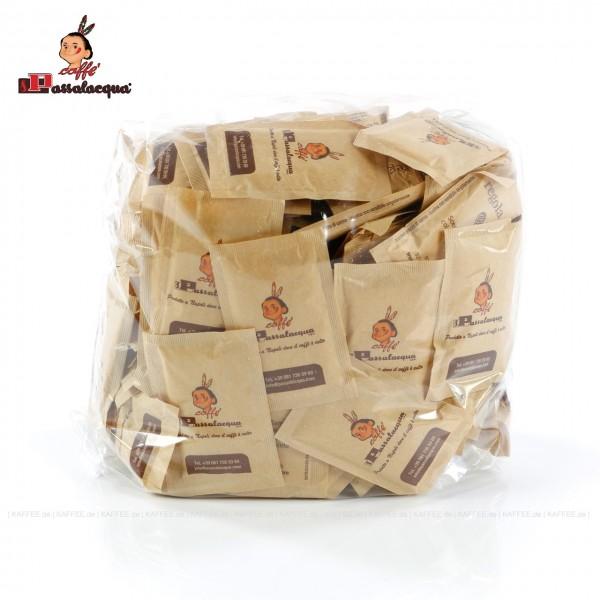 Zuckerpäckchen bedruckt mit PASSALACQUA-Logo, brauner Zucker, Gesamtinhalt 5 x 200 (1.000) Päckchen pro VPE, EAN-Code: 0000000001839