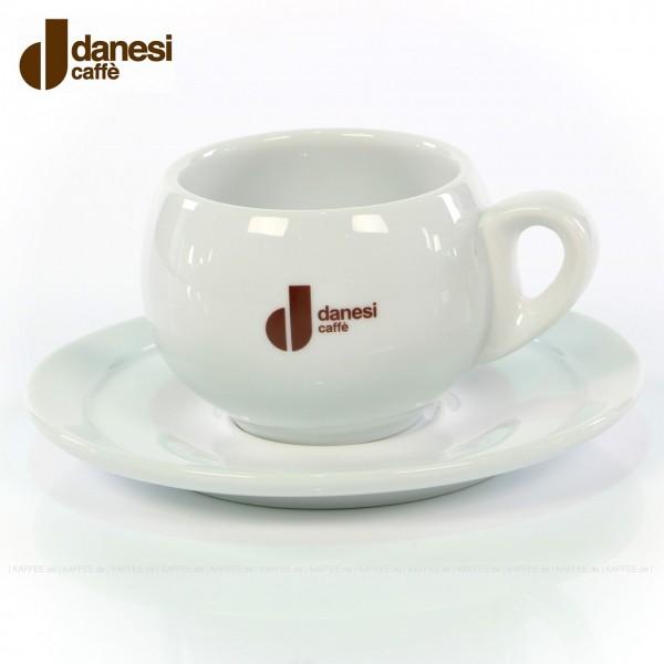 Farbe weiß mit Danesi-Logo, 4 Tassen pro VPE, EAN-Code: 8000135400043