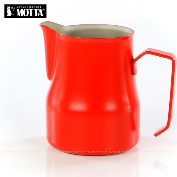 Milchkännchen aus Edelstahl (rostfrei), Füllmenge 500 ml, Farbe rot (außen), Gesamtinhalt 1 Stück pro VPE, EAN-Code: 8007986027504