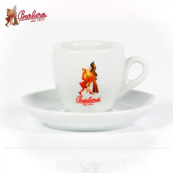 Farbe weiß mit Barbera-Logo, 6 Tassen pro VPE, EAN-Code: 8007597001177