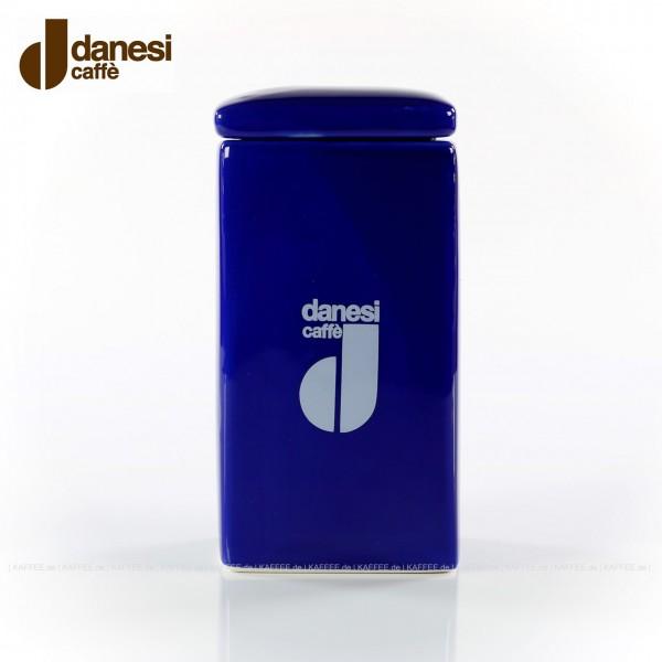 DANESI  Pot, Aufbewahrungsgefäß, farbig (blau) mit DANESI-Logo, zweiteilig - Gefäß mit Deckel, EAN-Code: 8000135818381