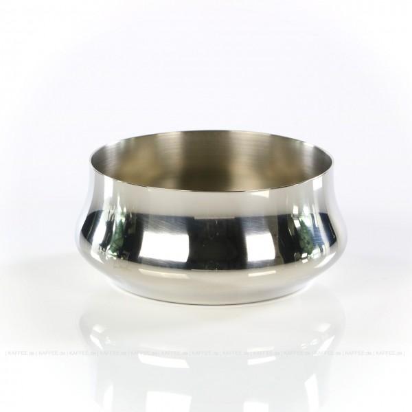 Zuckerdose aus Edelstahl für Zuckertüten, Form rund, Durchmesser 90 mm, Gesamtinhalt 1 Stück pro VPE, EAN-Code: 8007986048103