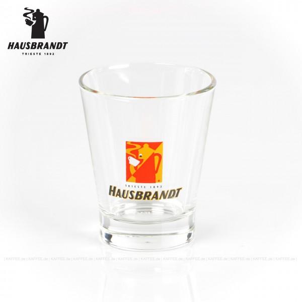 Glas mit Hausbrandt-Logo, 6 Gläser pro VPE, EAN-Code: 0000000001954