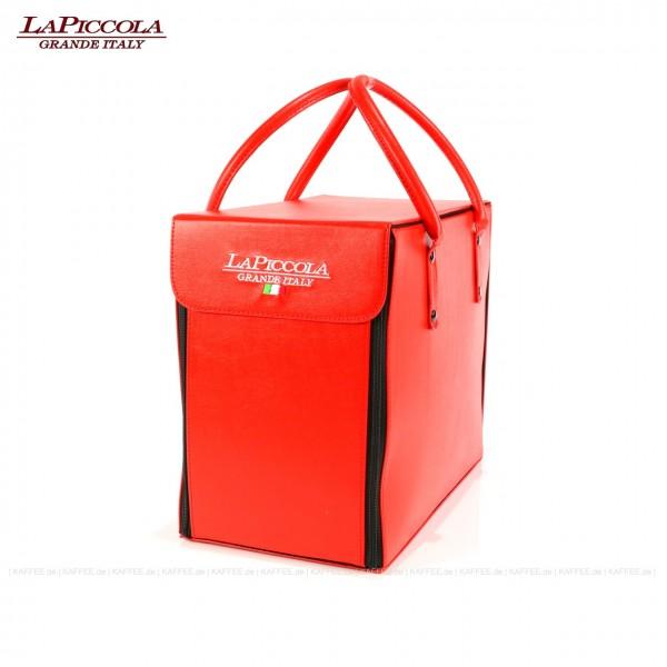 Transport- bzw. Reisetasche für die Piccola-Espressomaschinen-Serie (Piccola PICCOLA, Piccola PERLA und Piccola GOLD), Material Leder, EAN-Code: 0000000001294