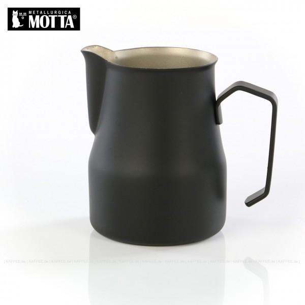 Milchkännchen aus Edelstahl (rostfrei), Füllmenge 350 ml, Farbe schwarz (außen), Gesamtinhalt 1 Stück pro VPE, EAN-Code: 8007986025357