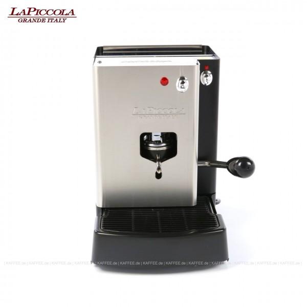 Espressomaschine für ESE-Pads (normal), Edelstahl mit schwarzen Seitenteilen, EAN-Code: 0000000001182