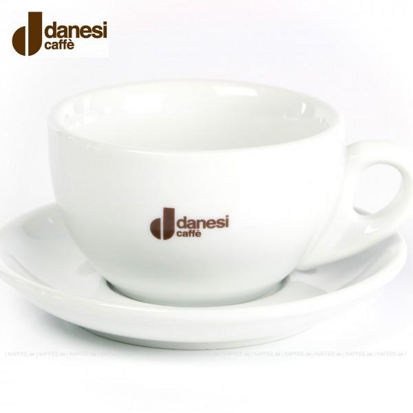 Farbe weiß mit Danesi-Logo, 4 Tassen pro VPE, EAN-Code: