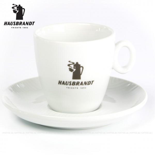 Farbe weiß mit Hausbrandt-Logo, 6 Tassen pro VPE, EAN-Code: 0000000001952