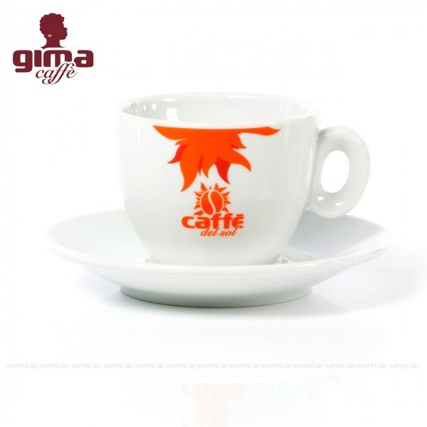 Farbe weiß mit Café del Sol-Logo, 6 Tassen pro VPE, EAN-Code: 0000000002124