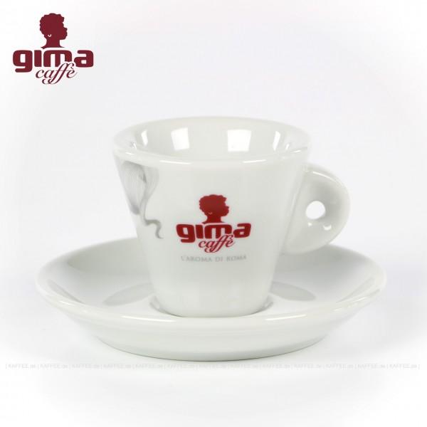 Farbe weiß mit GIMA Logo, 6 Tassen pro VPE, EAN-Code: 0000000002136