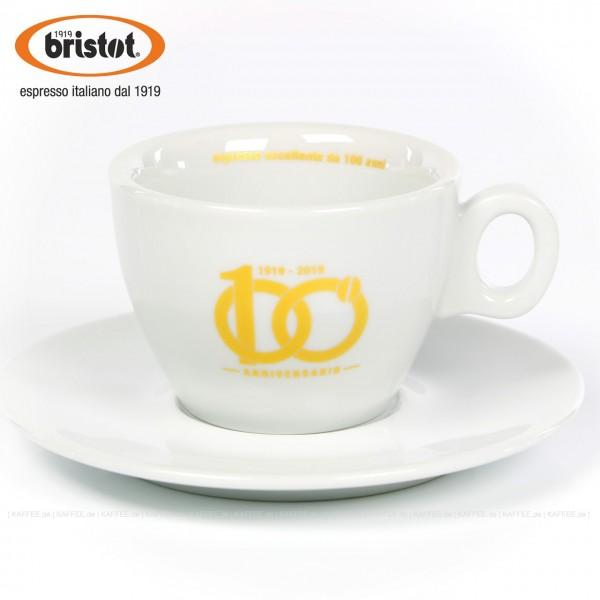 Farbe weiß mit Bristot Logo, Schriftzug innen, 6 Tassen pro VPE, EAN-Code: 0000000001725