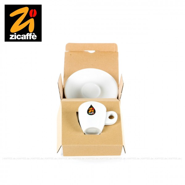 Farbe weiß mit Zicaffè-Logo, Modell Classic, 1 Tassen pro VPE, EAN-Code: 0000000002238
