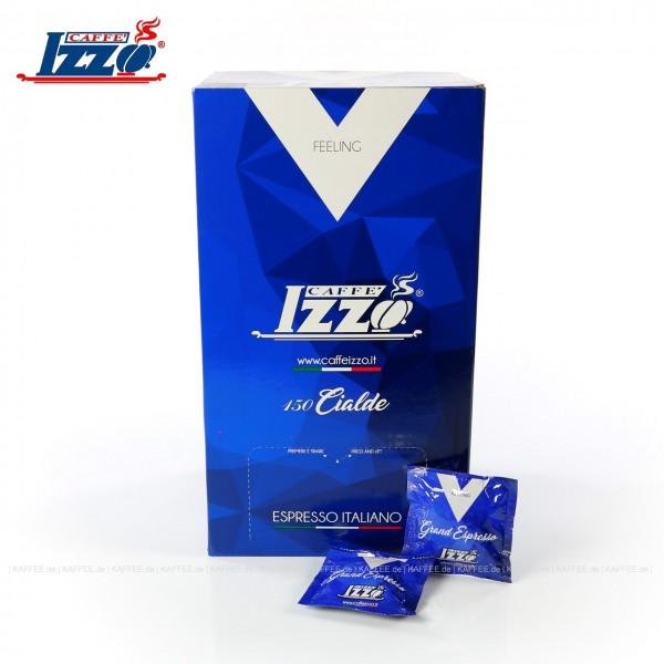 Ehemals Izzo Caffé Espresso Napoletano Silver, 150 Pads je 7 g VPE, gemahlen, ESE-Standard 44 mm, Gesamtinhalt 1,05 kg pro VPE, EAN-Code: 8019925001407